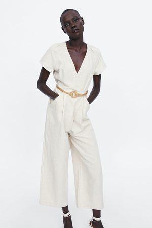 Zara Rustieke jumpsuit met overslag