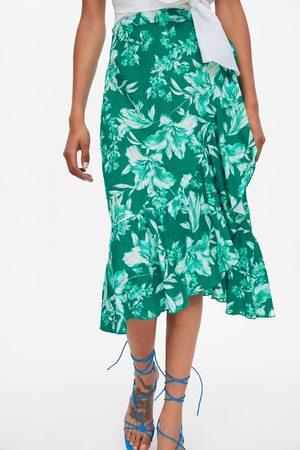 Zara Dames Geprinte rokken - Rustieke rok met bloemenprint