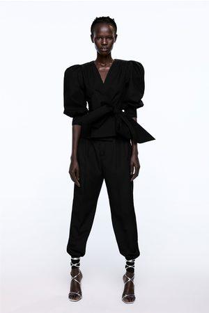 Zara Dames Vesten - Vest met ballonmouwen en strik