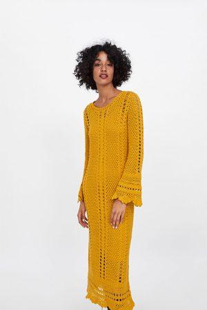 Zara Dames Jurken - Gehaakte jurk met geschulpte afwerking