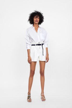 Zara Paper bag short met ceintuur