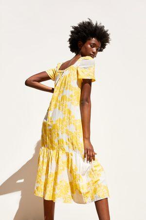Zara Midi-jurk met structuur