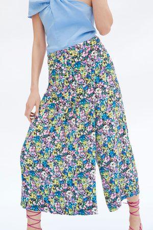Zara Dames Bermuda's - Bermuda met print en plooien