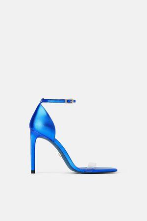 Zara Dames Sandalen - Leren sandaaltjes met hak blue collection
