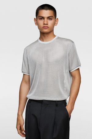 Zara T-shirt met netstofstructuur