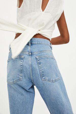 Zara Slouchy jeans met halfhoge taille en scheuren