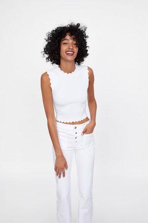 Zara Jeans z1975 met knopen en wijd uitlopende pijpen