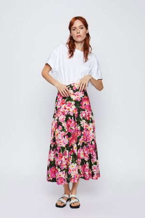 Zara Rok met print en ceintuur