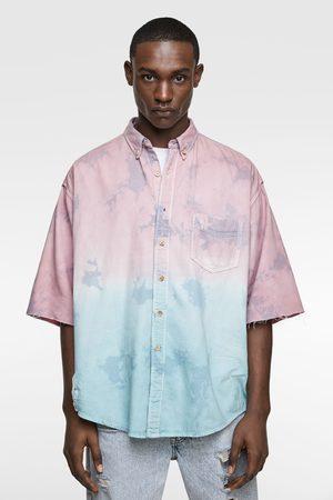 Zara Heren Overhemden - Tie-dye overhemd met scheuren
