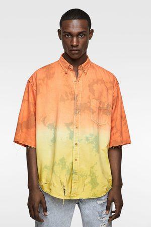 Zara Tie-dye overhemd met scheuren