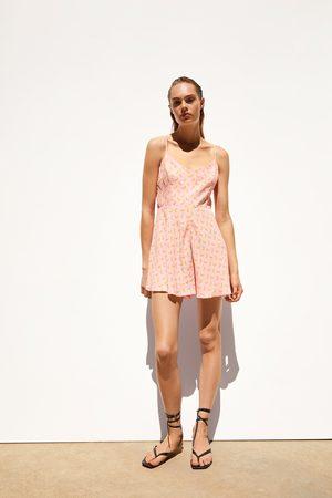 Zara Korte jumpsuit met print