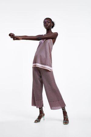 Zara Tricot broek met print