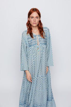 Zara Dames Geprinte jurken - Soepelvallende jurk met print