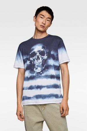 Zara Tie-dye t-shirt met doodshoofd