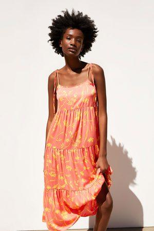 Zara Dames Geprinte jurken - Midi-jurk met print