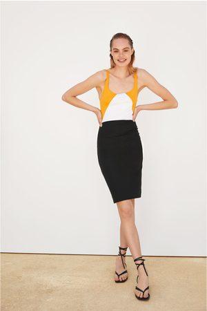 Zara Dames Kokerjurken - Kokerjurk met schouderbandjes