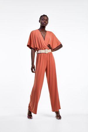 Zara Dames Jumpsuits - Jumpsuit met overslag en ceintuur