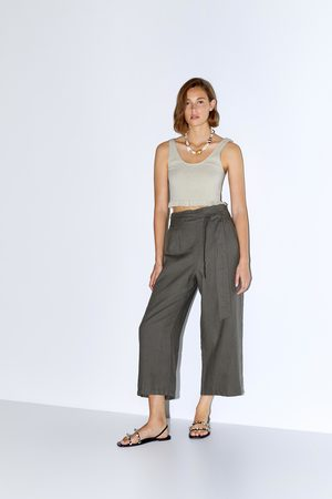 Zara Linnen broek met riem
