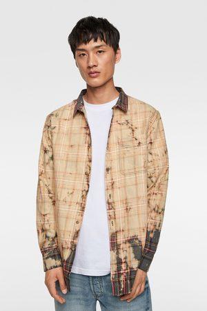 Zara Geruit tie-dye overhemd