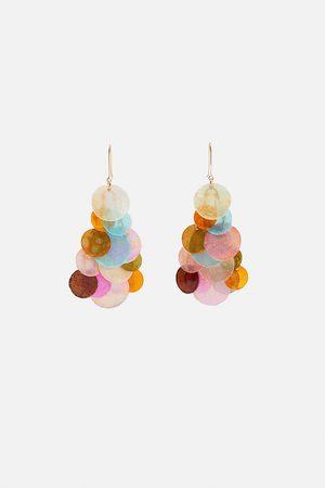 Zara Oorbellen met schubben in regenboogkleuren