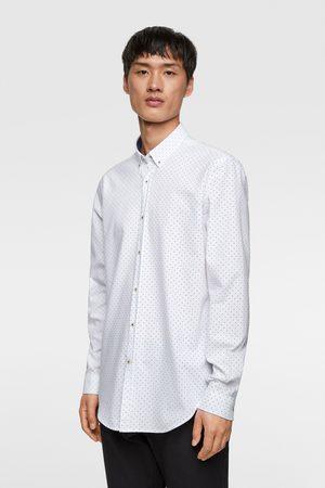 Zara Heren Overhemden - Oxford overhemd met stippen