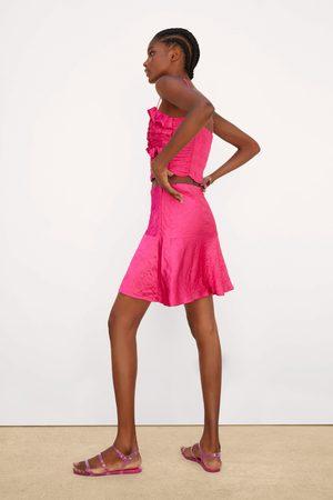 Zara Zijdeachtige rok met kreukeffect