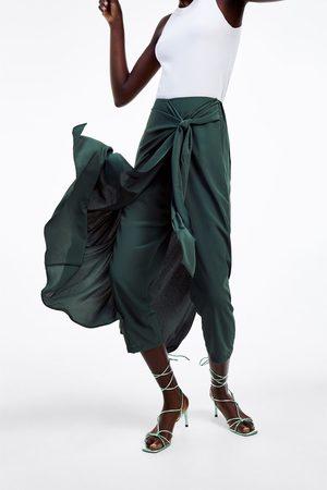 Zara Dames Pantalons - Broekrok met knoop