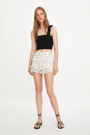 Zara Dames Shorts - Plissé short