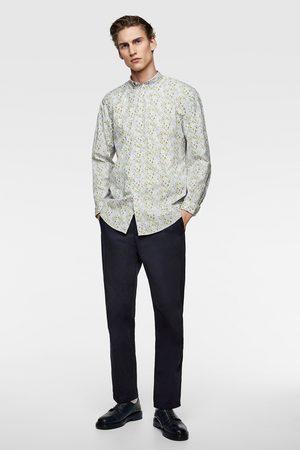Zara Heren Overhemden - Popeline overhemd met bloemen