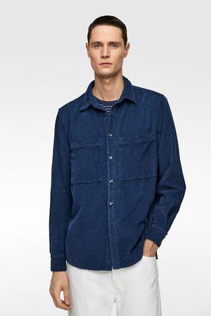 Zara Heren Denim - Corduroy overhemd