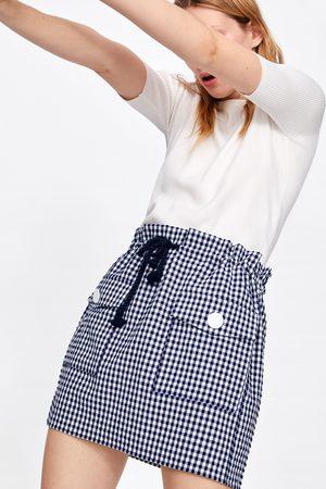 Zara Dames Korte & Mini rokken - Minirok met vichy ruit