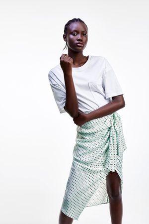 Zara Satijnachtige rok met stippen