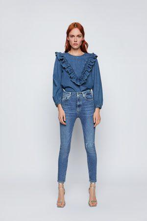 Zara Dames High waisted - Jeans zw premium 80s high waist venice blue
