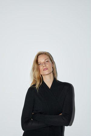 Zara Vest met wikkelkraag