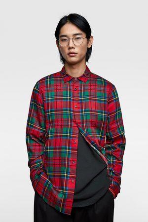 Zara Soepelvallend geruit overhemd