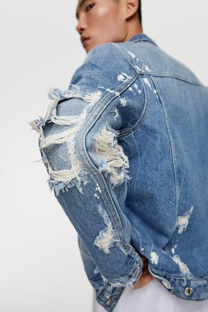 Zara Denim jack met patches