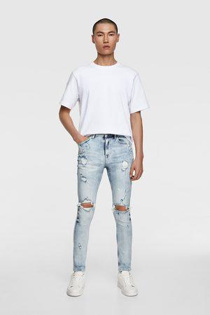 Zara Skinny jeans met verfspatten