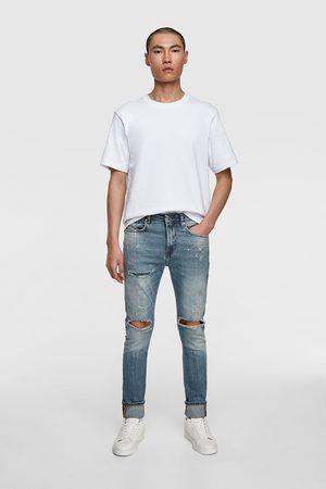 Zara Heren Skinny - Skinny jeans met verfspatten