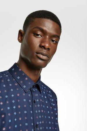 Zara Easy care overhemd met geometrische print