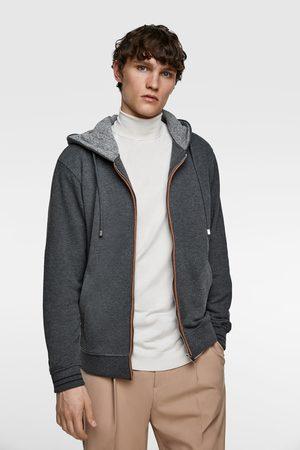Zara Heren Sweaters - Gecombineerde sweatshirt met capuchon
