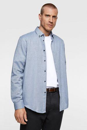 Zara Overhemd met visgraatstructuur