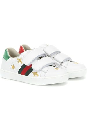 Gucci Meisjes Sneakers - Ace embroidered leather sneakers