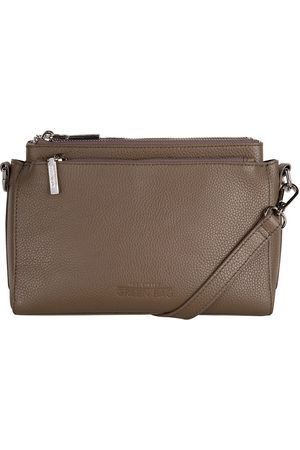 The Little Green Bag Clutches Cerise Crossbody Taupe