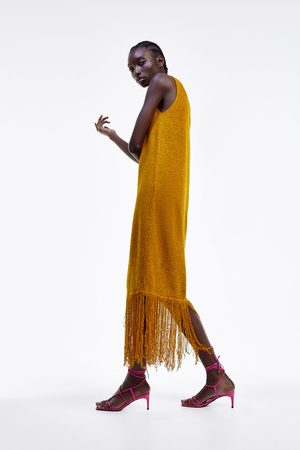 Zara Rustieke jurk met franjes