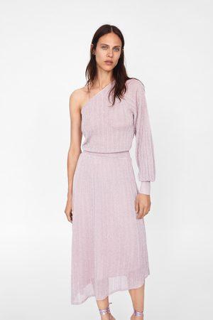 Zara Asymmetrische jurk van metaalgaren