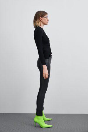 Zara LEGGING MET LEEREFFECT