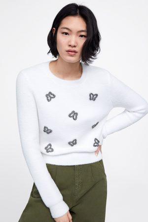 Zara Knit sweater with appliqués