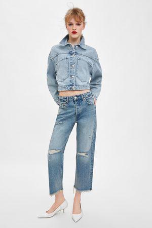 Zara Rechte jeans met halfhoge taille