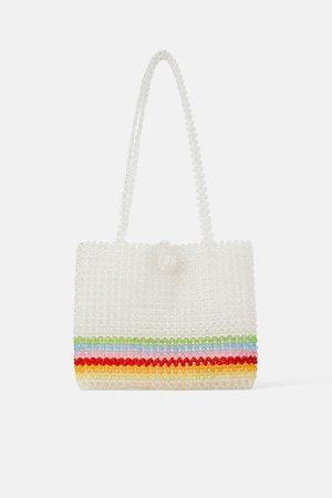 Zara Shopper met veelkleurige kraaltjes