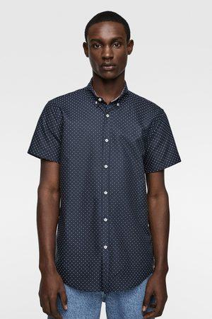 Zara Oxford overhemd met stippenprint